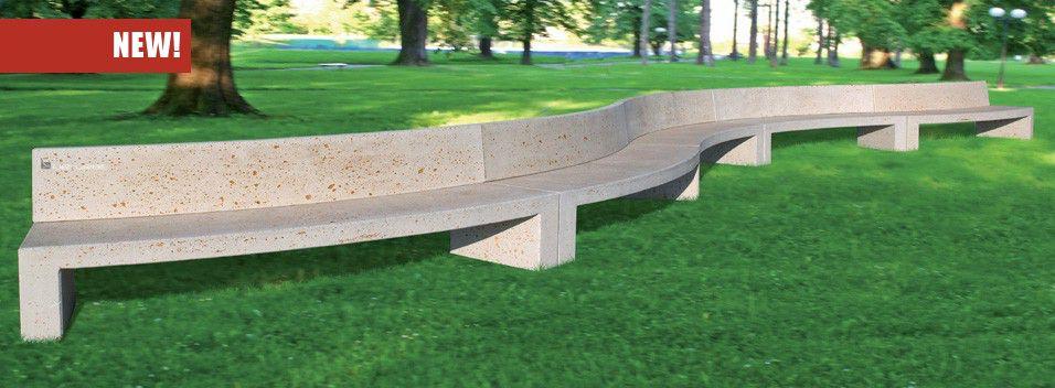 Panchina curva monoblocco con schienale per arredi urbani for Arredo urbano panchine